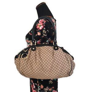 Gucci Canvas Sukey Two Way Shoulder Bag